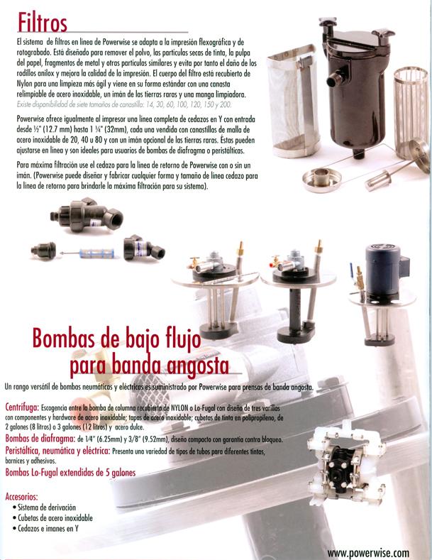 Filtros Powerwise Bombas para tintas